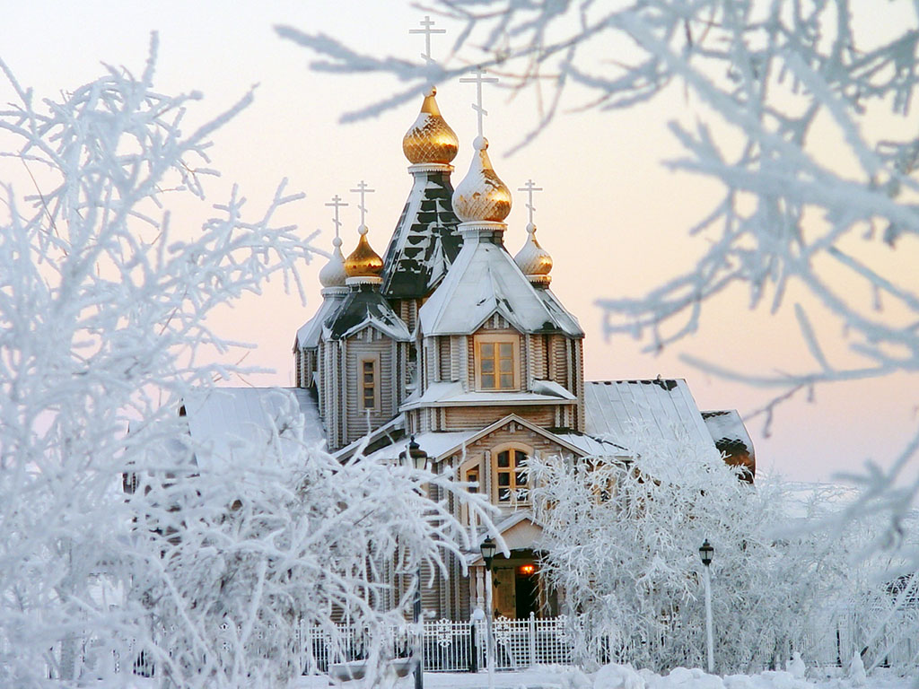 Храм зимой картинки 4
